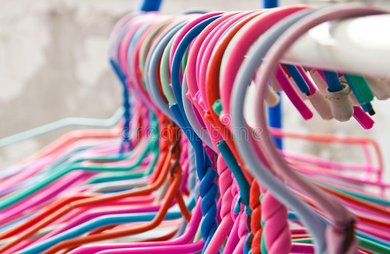 Clothes hanger royalty free stock images