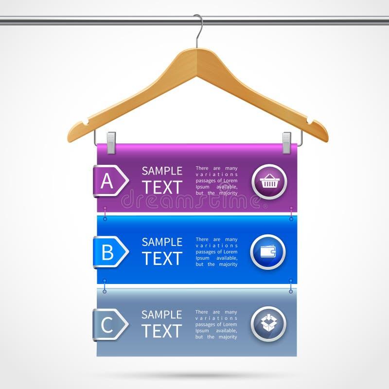 Clothes hanger sale infographics stock illustration
