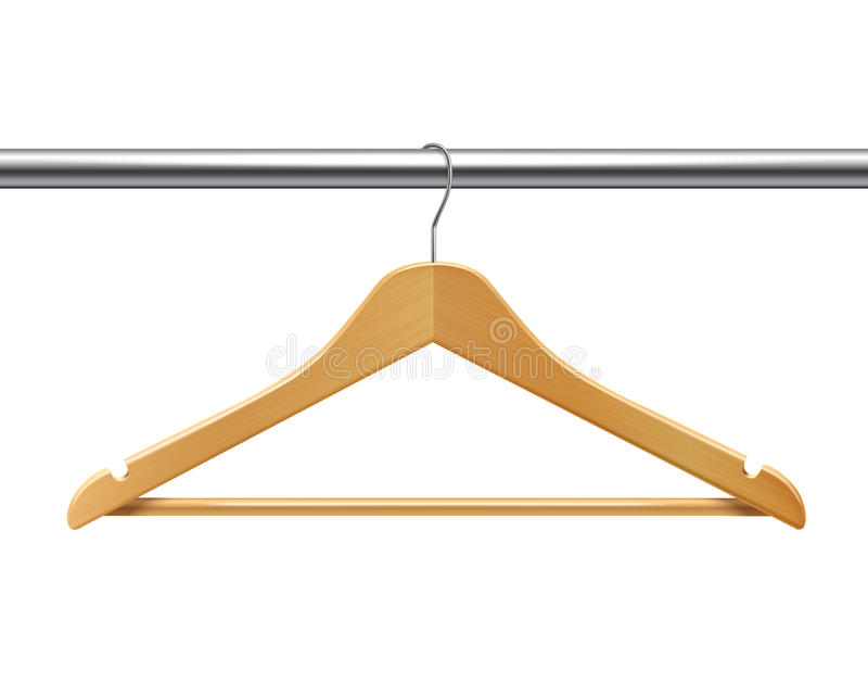 Clothes hanger on tube vector illustration