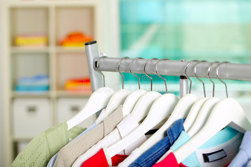 Download Clothes On Hangers Stock Photography - Image: 22272832