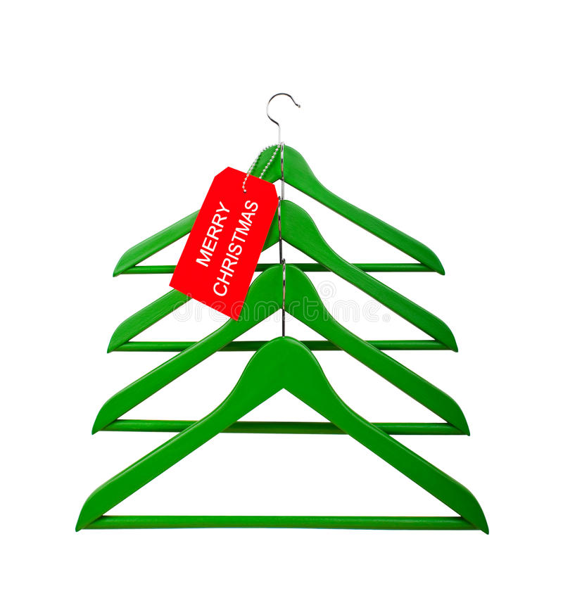 Download Clothes Hangers In The Form Of A Christmas Tree Stock Image - Image: 27850211