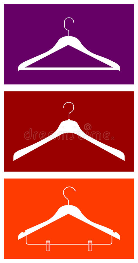 Clothes hangers series stock illustration
