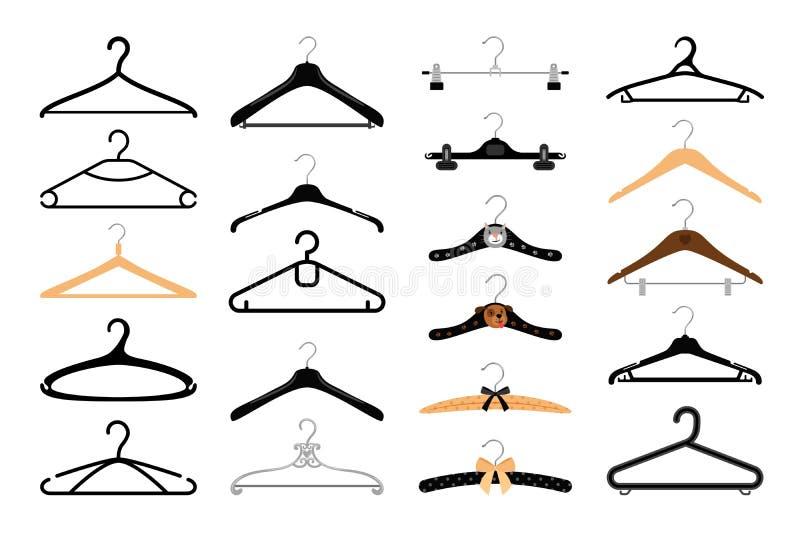 Clothes hangers set stock illustration