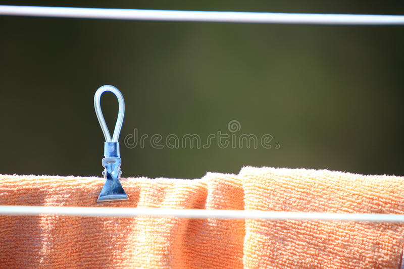 Download Clothes Hanging To Dry On A Laundry Line Stock Image - Image: 38630339