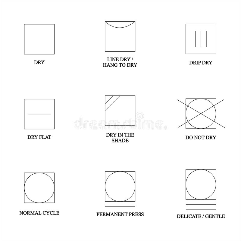Download Clothes icons stock vector. Image of cycle, symbols, permanent - 7086290