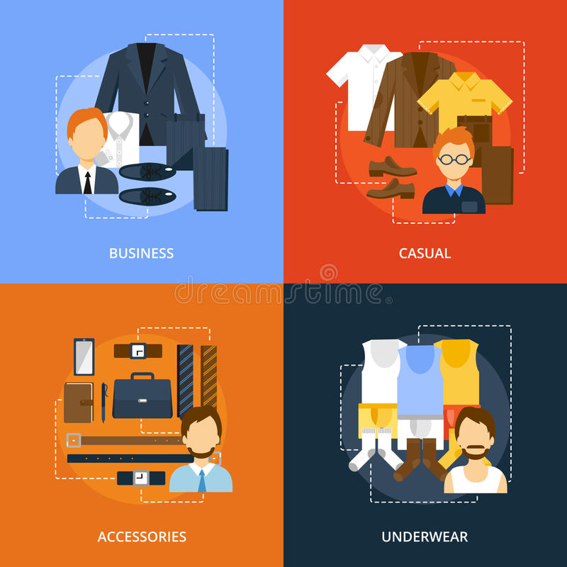 Clothes Icons Flat vector illustration