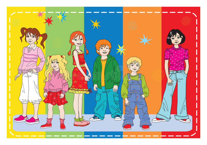 Download Clothes For L Girl And Boys Stock Vector - Image: 10948914