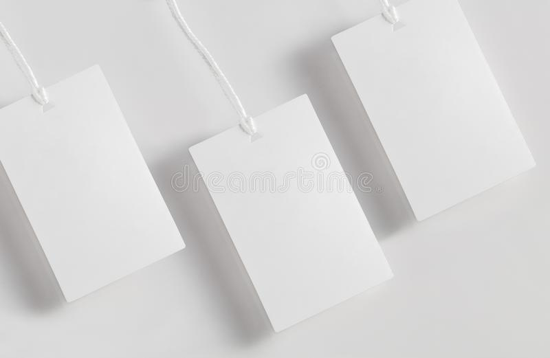Clothes Label Tag Blank White Mockup Stock Image - Image of template ...