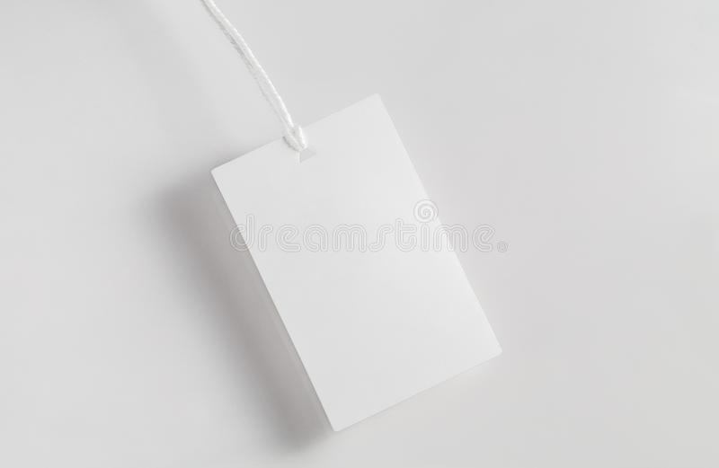 Clothes Label Tag Blank White Mockup Stock Photo - Image of identity ...