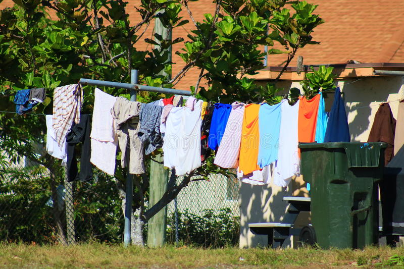 Clothes Line royalty free stock image