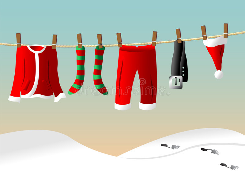 Download Clothes Line For Santa Suit Stock Vector - Image: 3233387