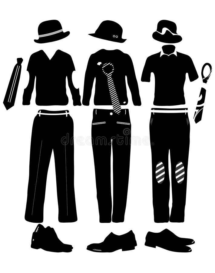 Download Clothes for man stock vector. Illustration of desire - 27584877