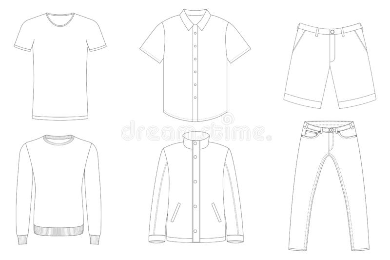 Clothes Outlines royalty free stock photos