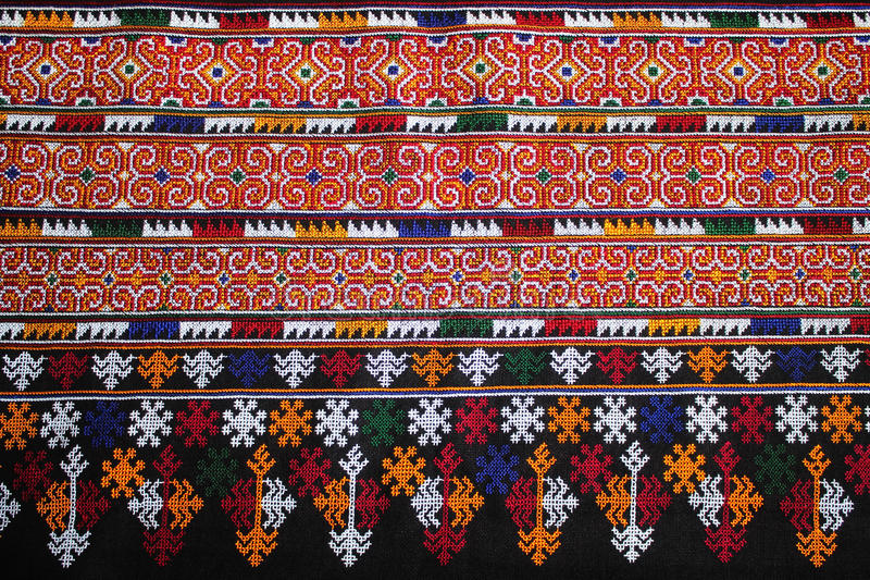 The Clothes And Pants Hand Made By Woman Mien Hill Tribe Stock Photo Image Of Embroidery Cotton 79654636