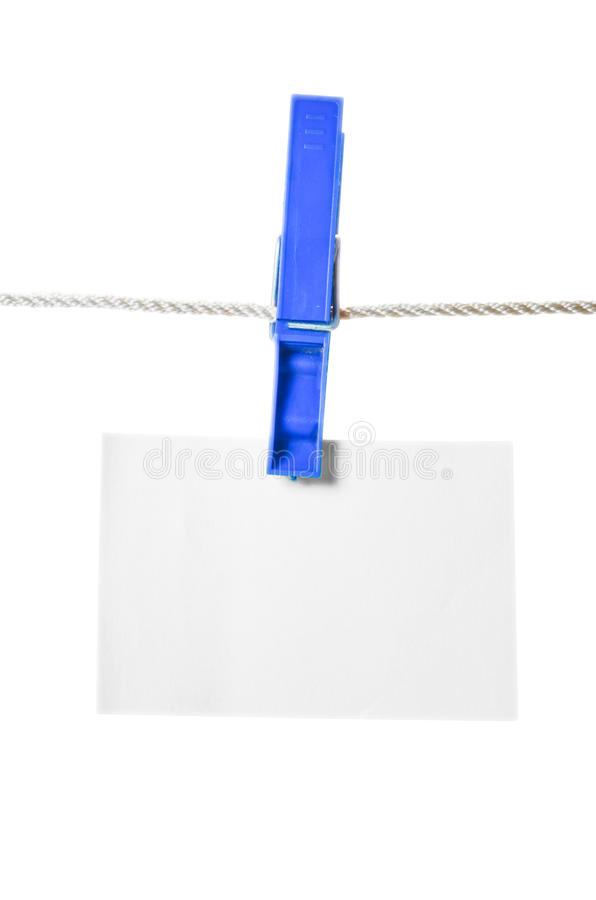 Clothes Peg And Note Paper Stock Photography