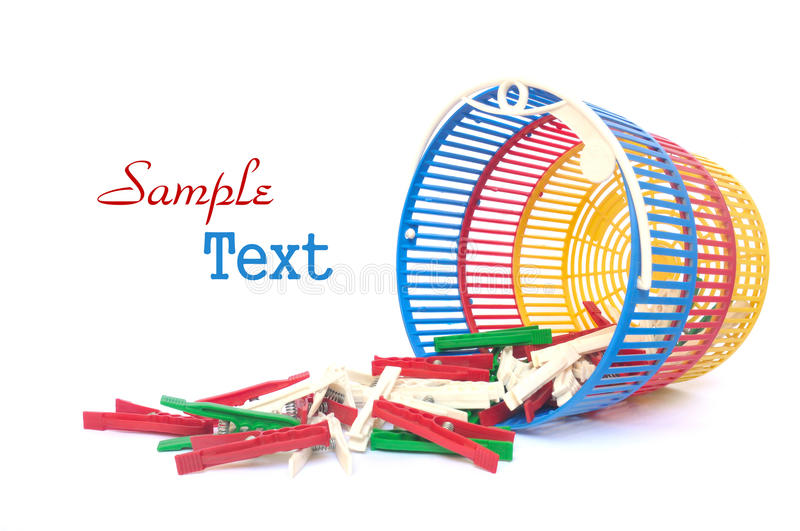 Download Clothes pegs stock photo. Image of laundry, tidy, color - 22600874