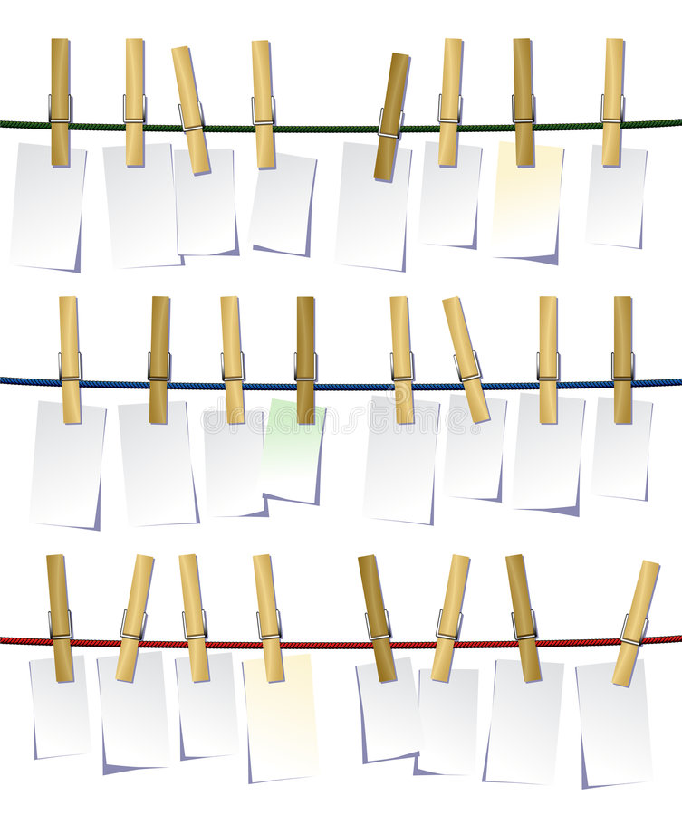 Free Clothes Pegs Royalty Free Stock Image - 3830216