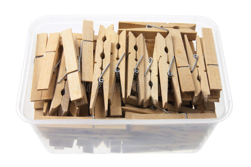 Download Clothes Pegs in Box stock image. Image of fasteners, pegs - 22720981