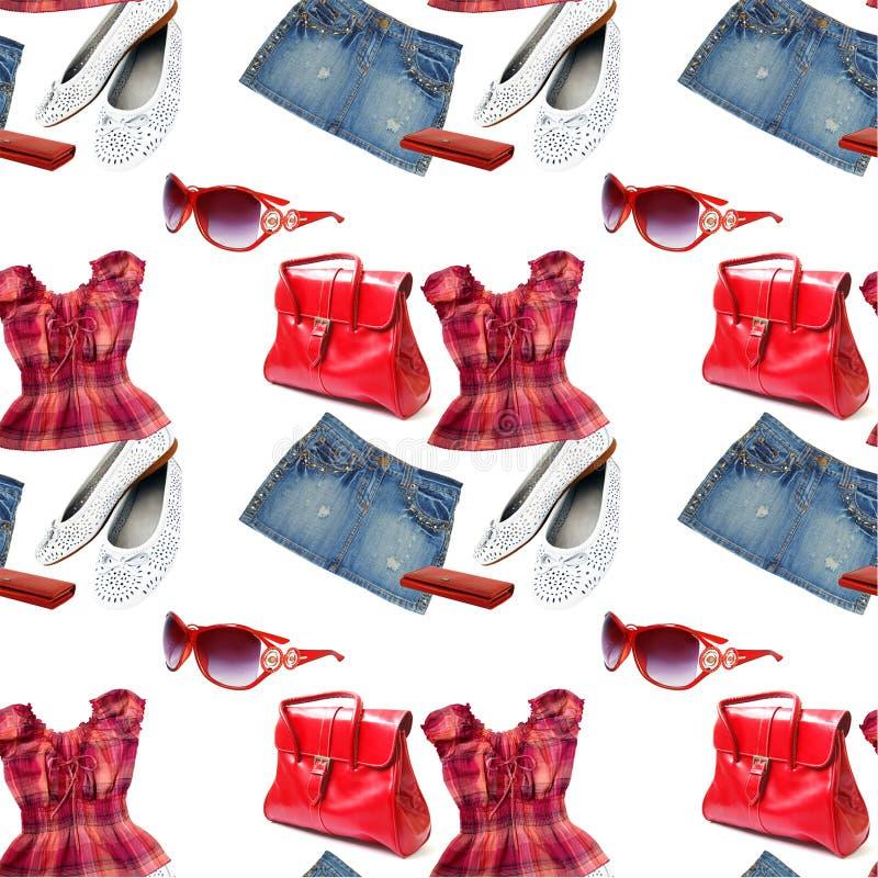 Clothes seamless pattern stock photos