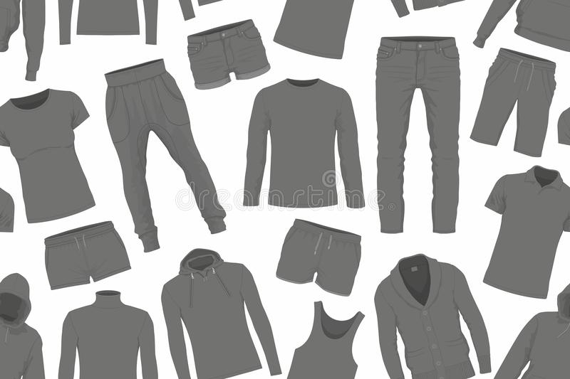 Clothes seamless pattern royalty free illustration