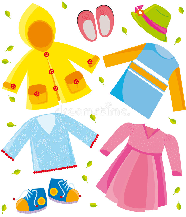 Clothes series- spring stock illustration