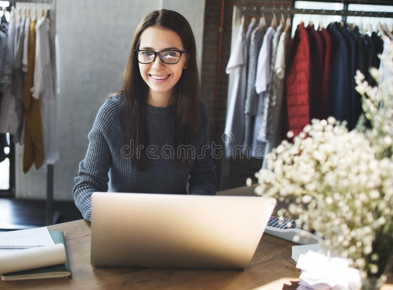 Clothes Shop Costume Dress Fashion Store Style Concept.  royalty free stock image