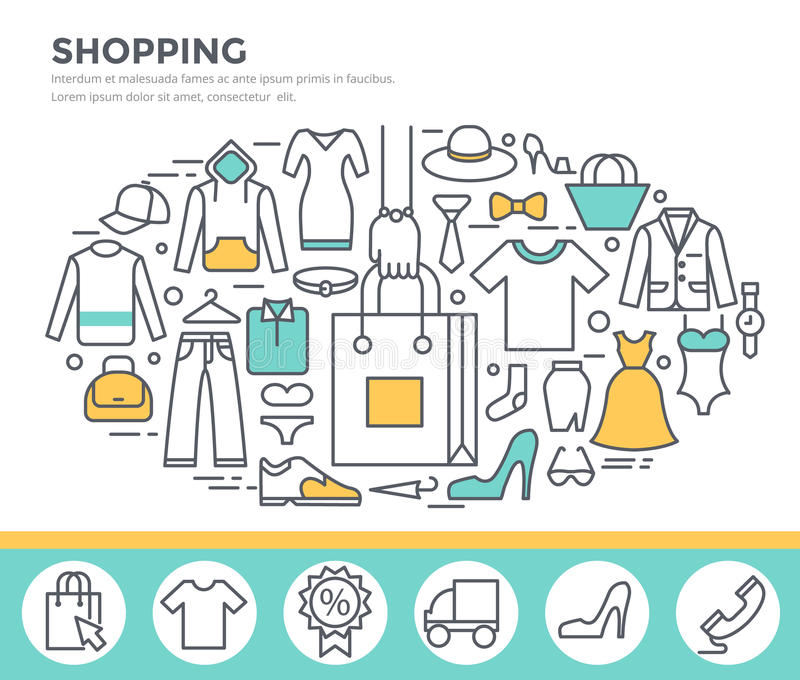 Clothes shopping concept illustration. vector illustration