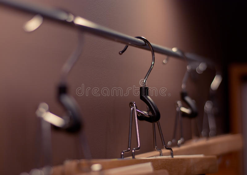 Clothes Store - Hangers stock photo