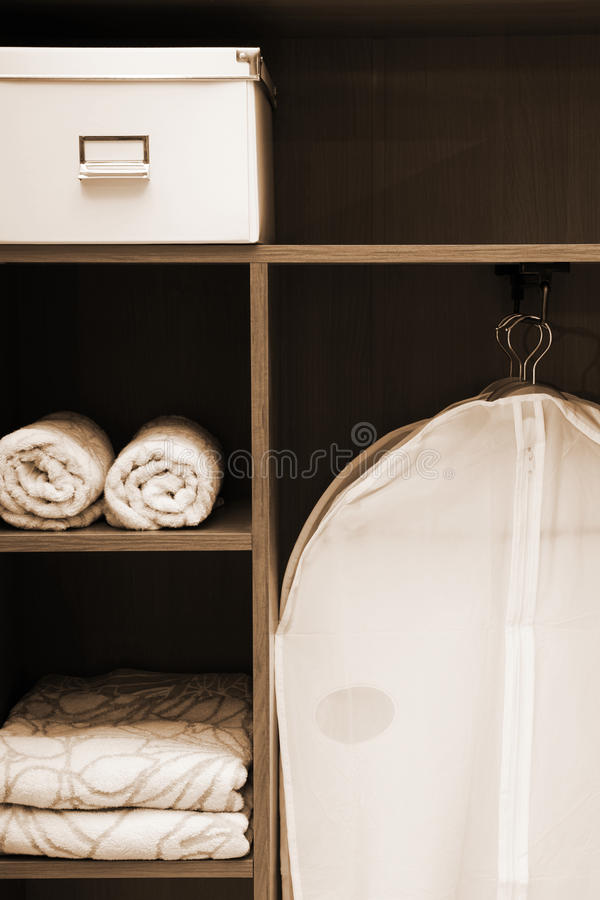 Clothes and towels stock photo