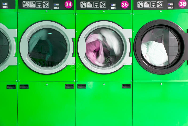 Download Clothes washers stock photo. Image of laundrette, machines - 14850454