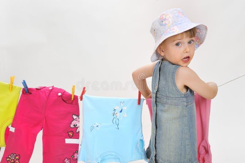 clothesline ребенка стоковое фото rf