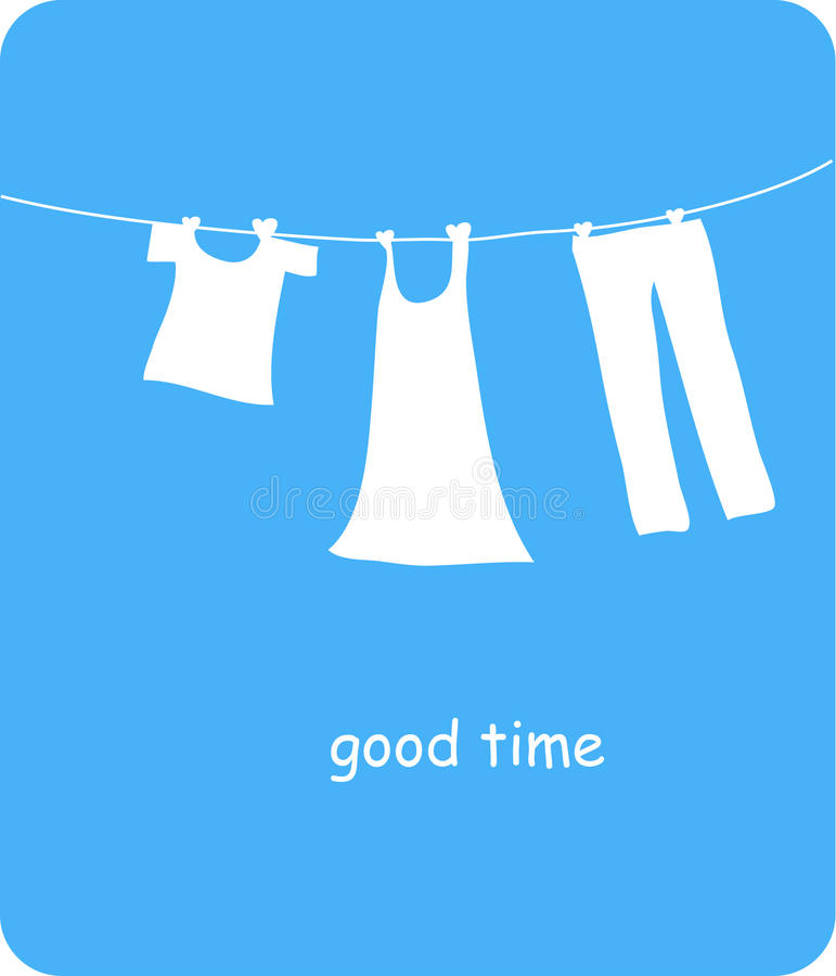 Download Clothesline stock vector. Illustration of illustration - 11602081