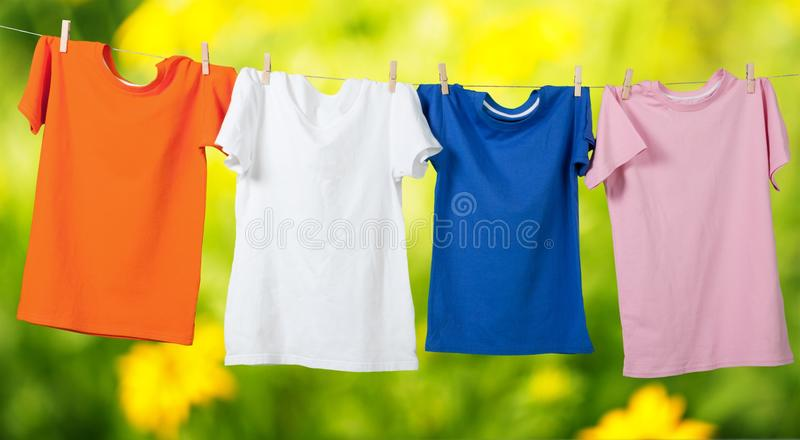 Clothesline royalty free stock photography