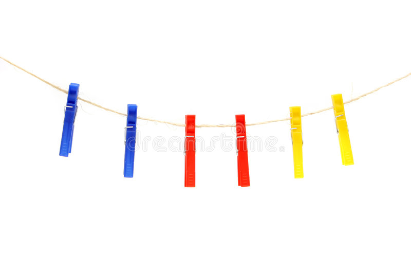 Clothespin immagine stock