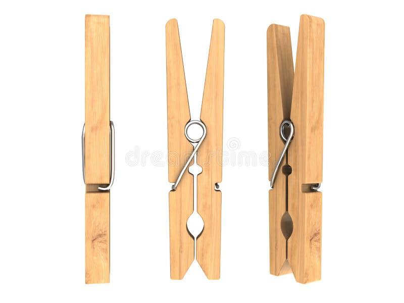 clothespin ilustração stock
