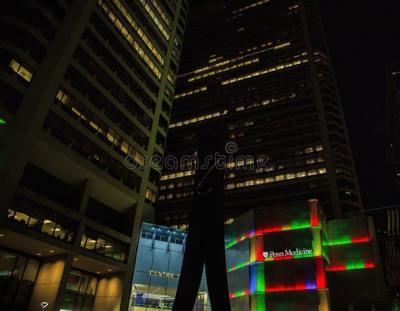 Clothespin au centre-ville de Philadelphie photos libres de droits