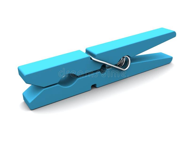 Clothespin azul ilustração royalty free