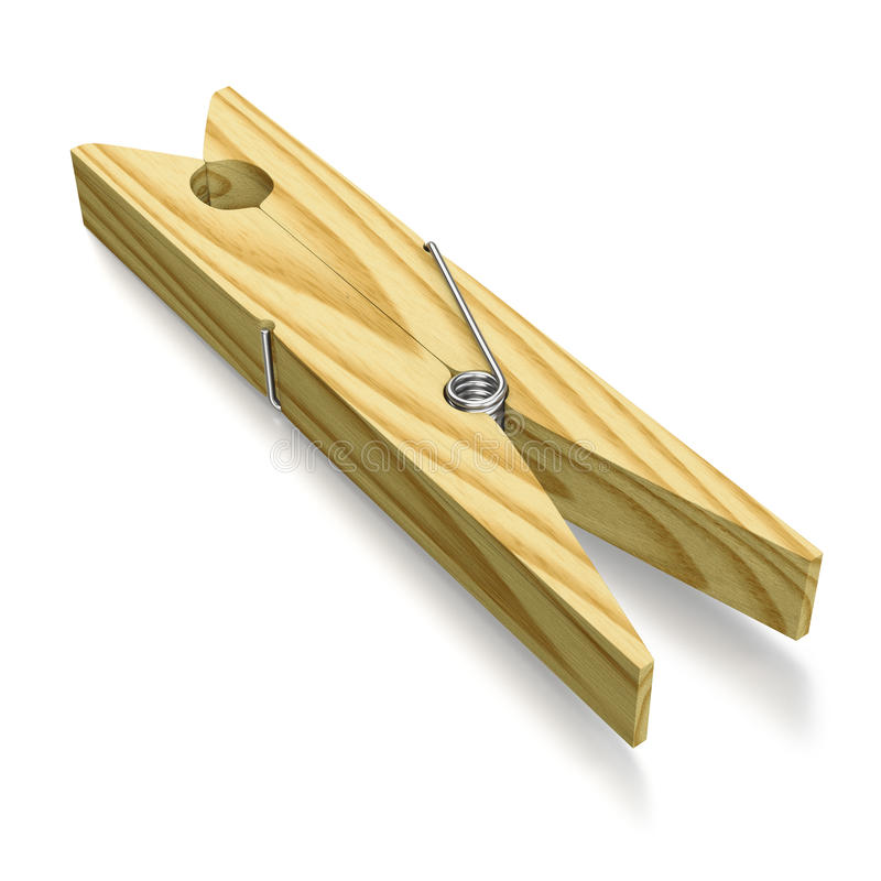 Clothespeg de madeira, tradicional ilustração do vetor