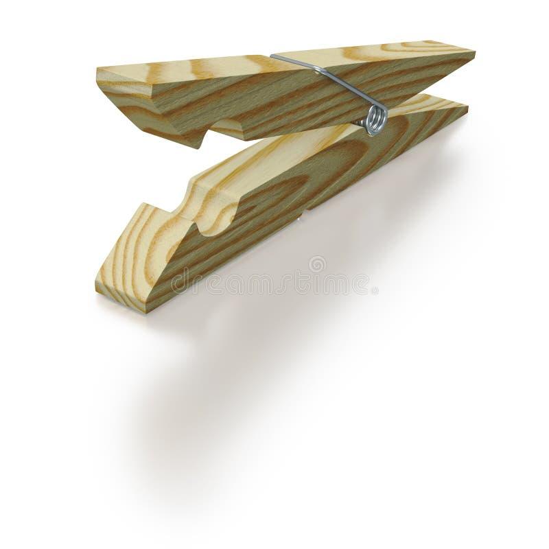 Clothespeg de madeira, tradicional ilustração stock