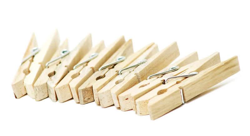 clothespins деревянные стоковые изображения rf