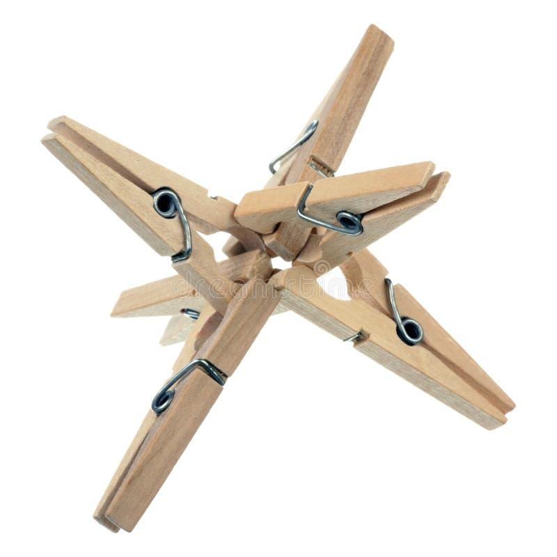clothespins деревянные стоковое изображение rf