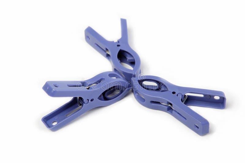Clothespins, изолированные на белизне. стоковые изображения