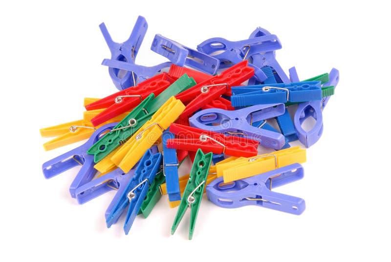clothespins пестротканые стоковое изображение