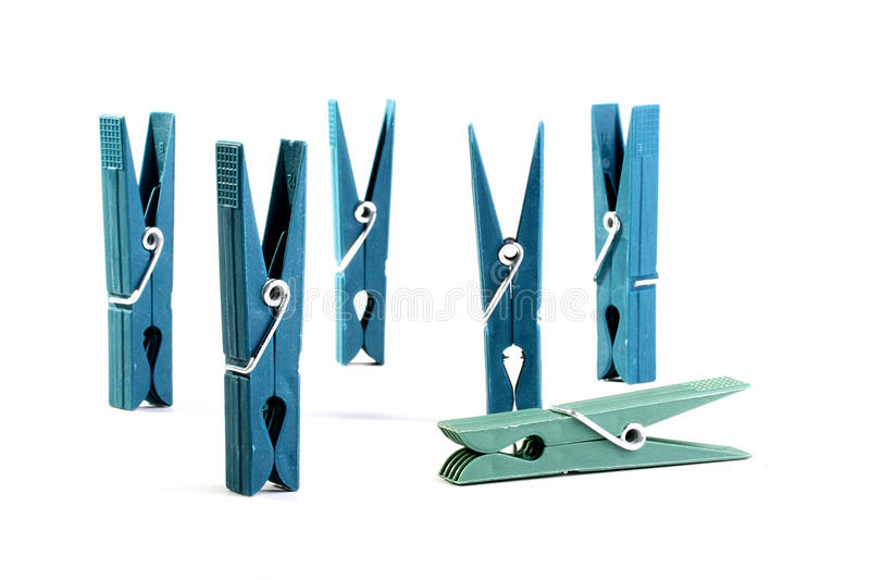 clothespins пластичные стоковые фото
