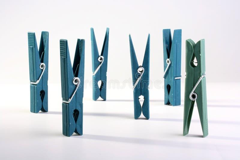 clothespins пластичные стоковое фото