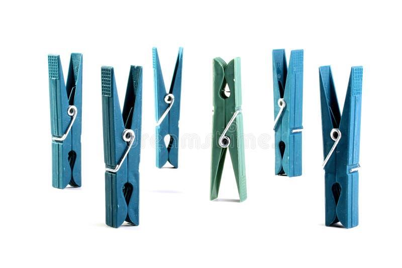 clothespins пластичные стоковая фотография rf