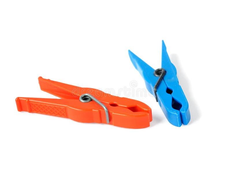 clothespins пластичные стоковая фотография