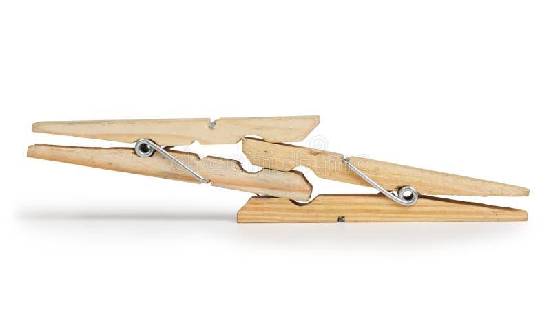 Clothespins совместно стоковые изображения