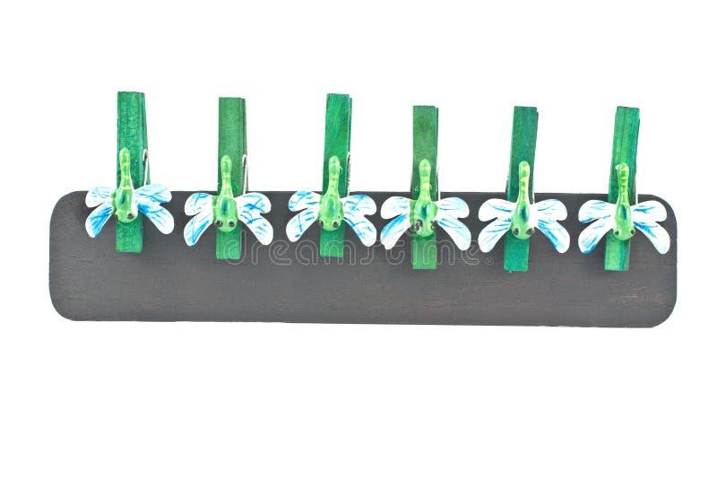 clothespins украсили dragonflies деревянные стоковые изображения