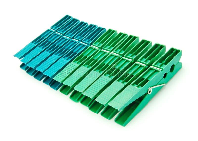 clothespins установили 10 стоковое изображение